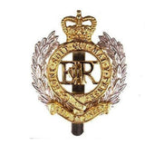 Cap Badge - Royal Engineers, - Brass & Nickel - V Hook [product_type] Ammo & Company - Military Direct