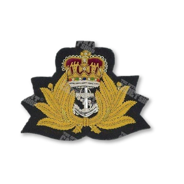 Royal Navy Officers Cap Badge Embroidered Beret & Cap Badges Ammo & Company - Military Direct