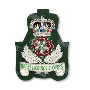 The Intelligence Corps Officers' Badge Embroidered Beret & Cap Badges Ammo & Company - Military Direct