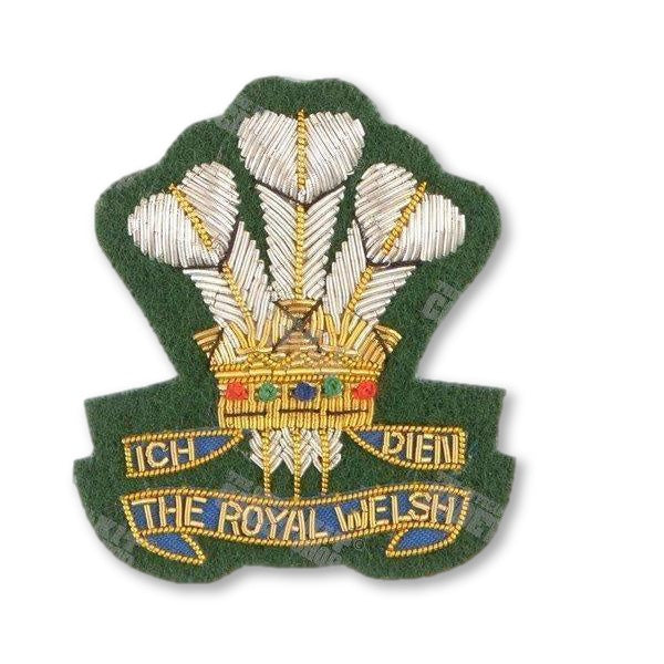 The Royal Welsh Embroidered Officer's Badge Embroidered Beret & Cap Badges Ammo & Company - Military Direct