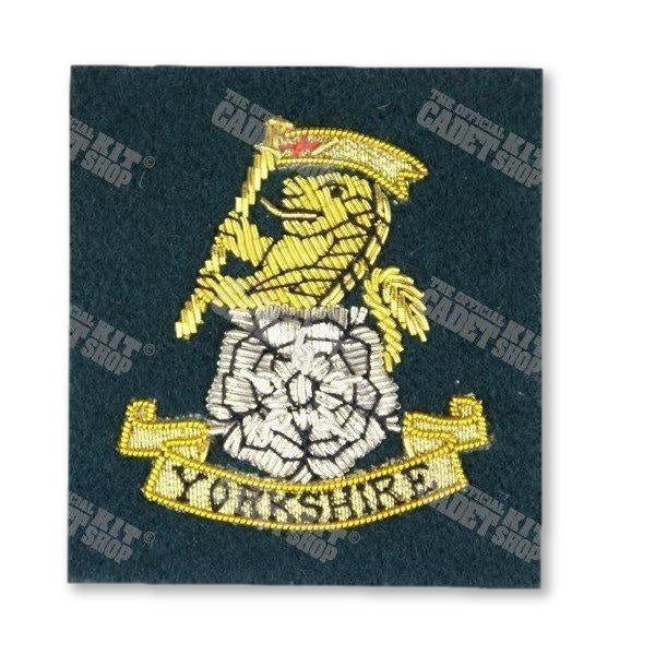 The Yorkshire Regiment Officers' Embroidered Badge Embroidered Beret & Cap Badges Ammo & Company - Military Direct