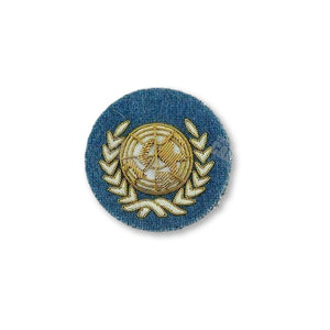 UN Officers' Embroidered Beret Badge Embroidered Beret & Cap Badges Ammo & Company - Military Direct
