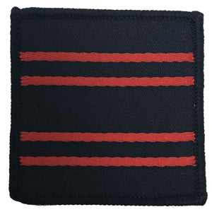 RAPTC - Beret Badge backing - Red on Blk - 50 x 50mm [product_type] Ammo & Company - Military Direct