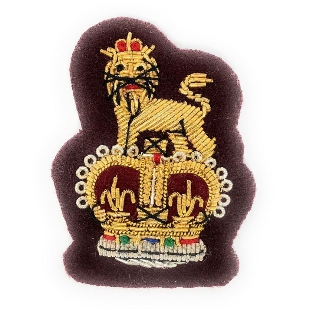 Staff Officer Beret Badge Maroon Ground [product_type] Ammo & Company - Military Direct