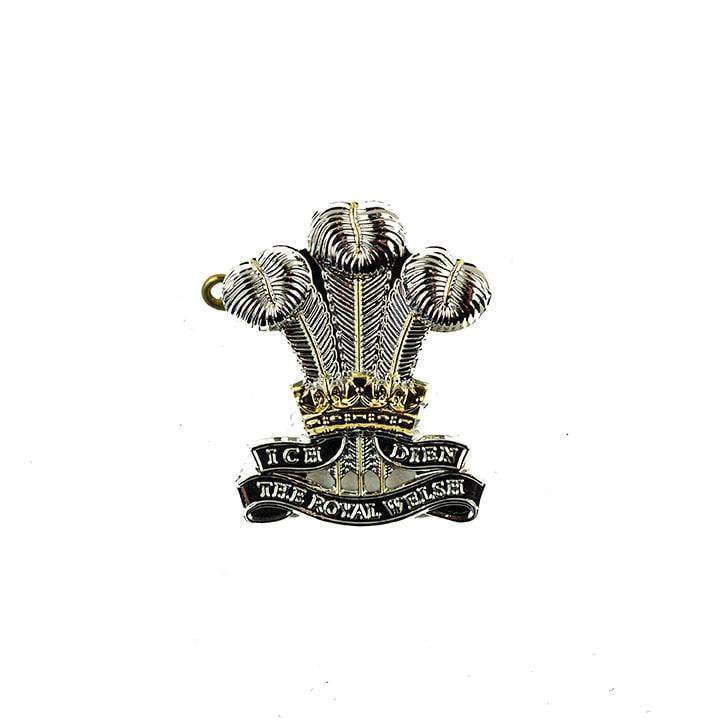 The Royal Welsh metal cap badge : Shank + Pin Regiment & Corps Metal Badges Genuine Issue - Military Direct
