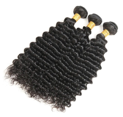 Malaysian Deep Curly Bundle Deal w/ Frontal
