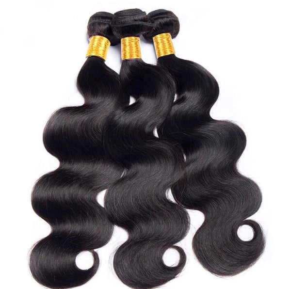 Brazilian Body Wave Bundle Deal w/ Closure