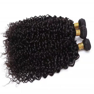 Brazilian Kinky Curly Bundle Deal w/ Closure
