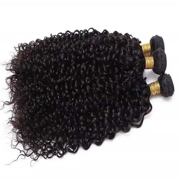 Brazilian Kinky Curly Bundle Deal w/ Frontal