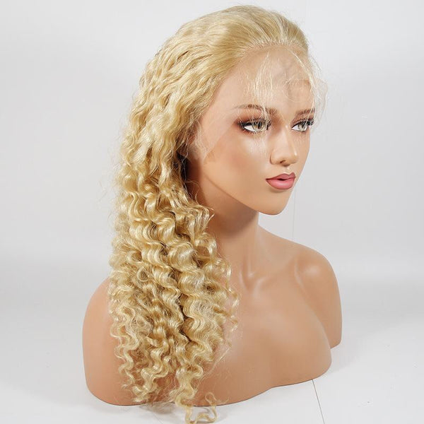 613 Malaysian Deep Curly Full Lace Wig