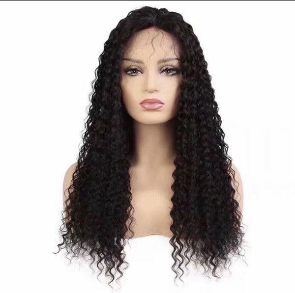1B Malaysian Deep Curly Lace Frontal Wig
