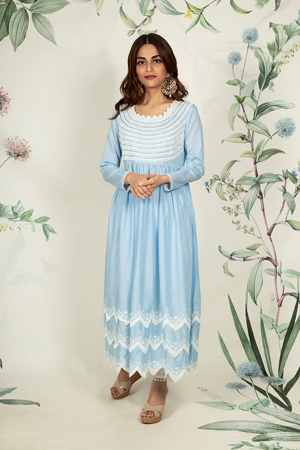 Marigold Kurta Light Blue