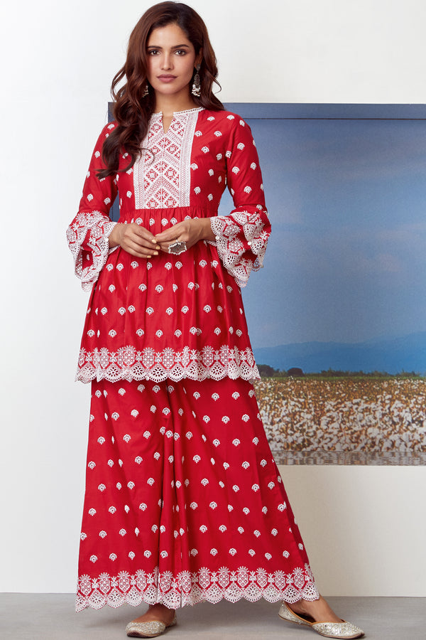 Mulmul Cotton BRAZEN KURTA With BRAZEN SHARARA