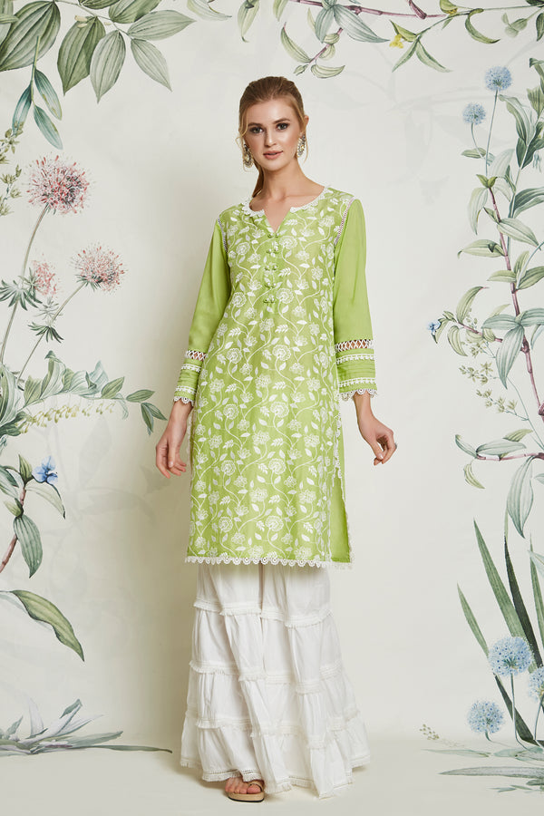 CARNATION KURTA GREEN