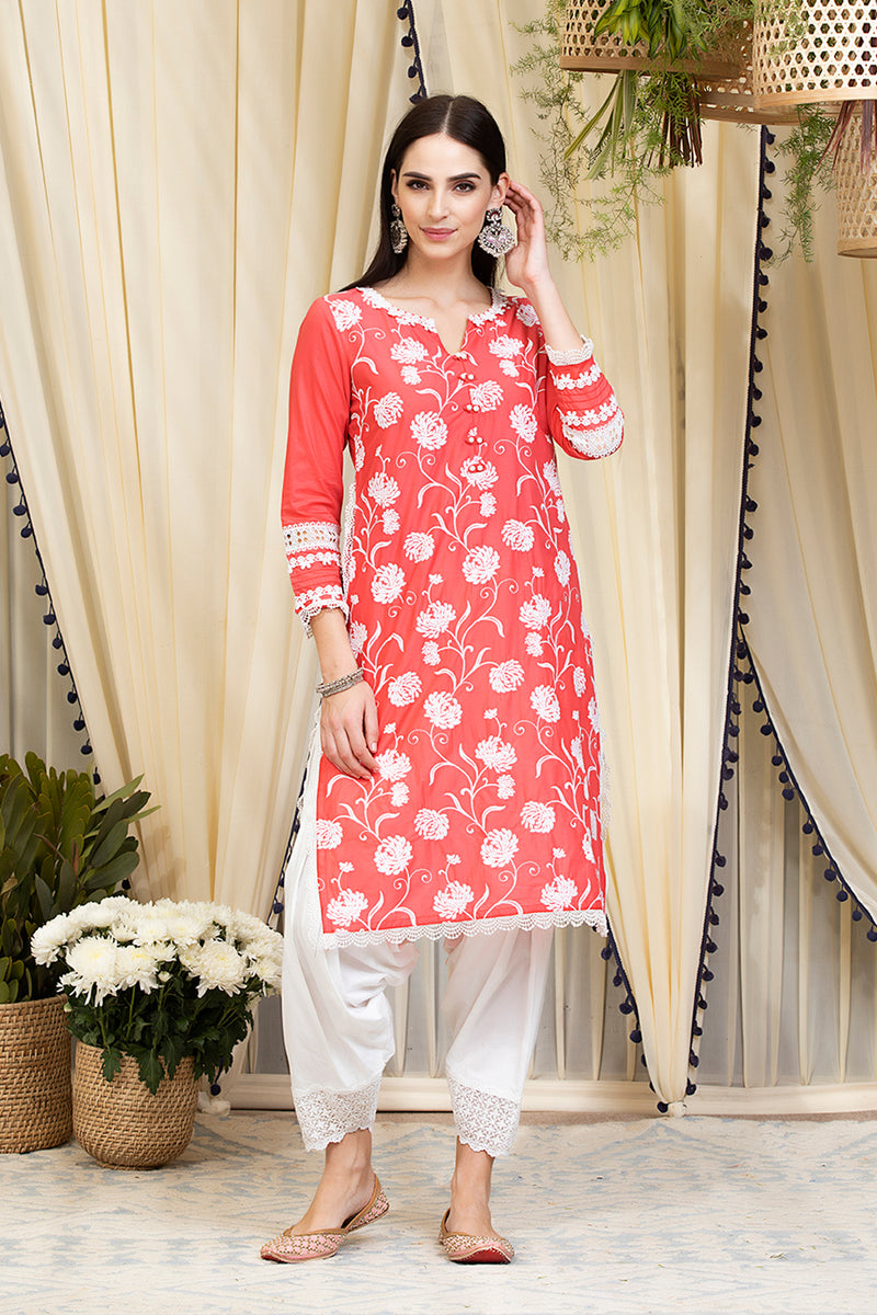 Mulmul Cotton Claudia Kurta