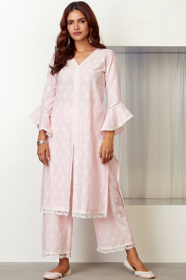 Mulmul Cotton ESCAPADE KURTA With ESCAPADE PALAZZO