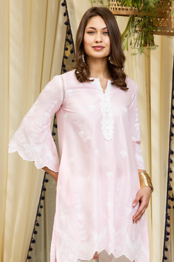 Mulmul Cotton Julia Kurta With Patiala