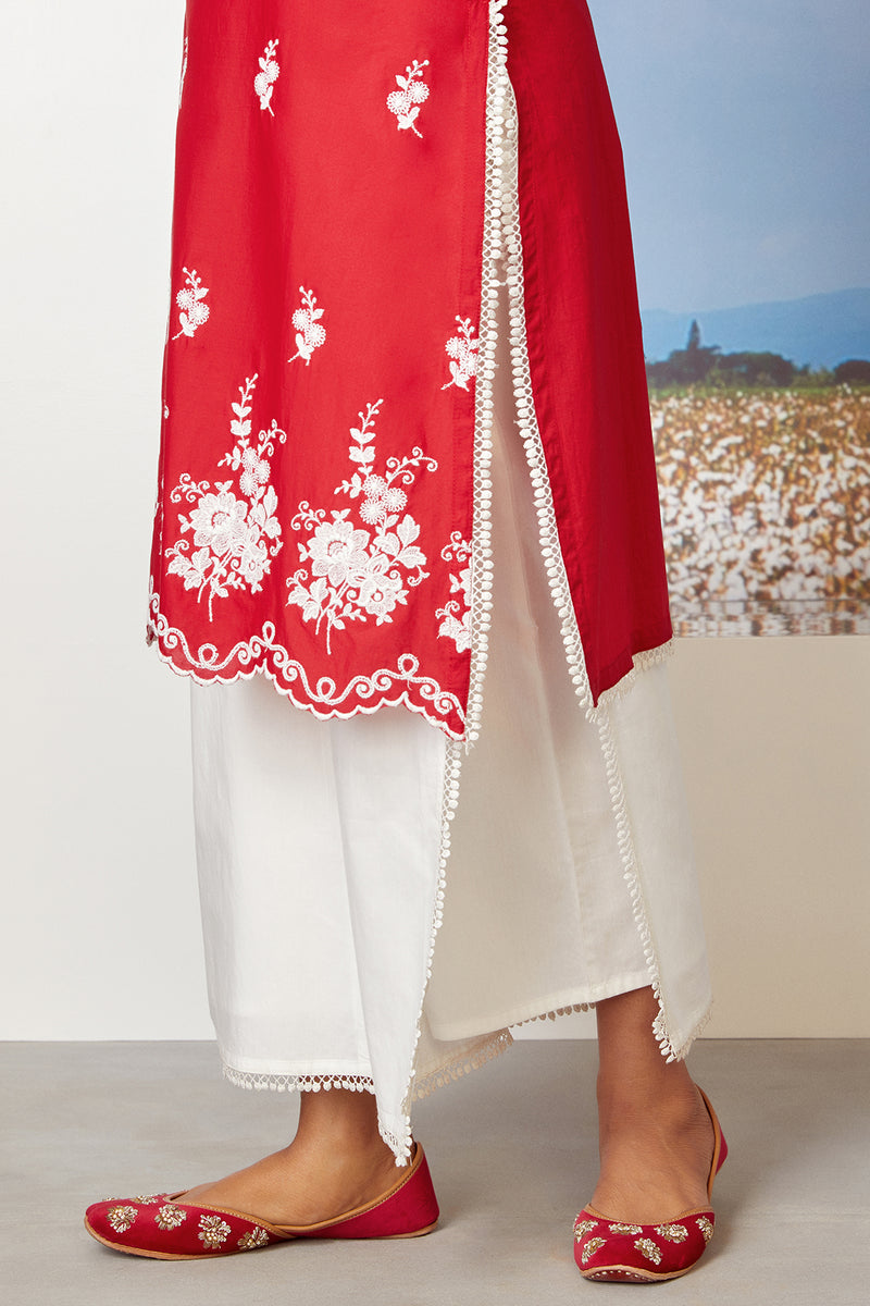 Mulmul Cotton Lovesong Kurta With Flap Pant