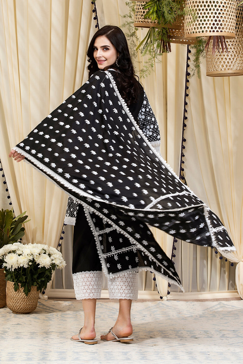 Mulmul Cotton Small Booti Dupatta