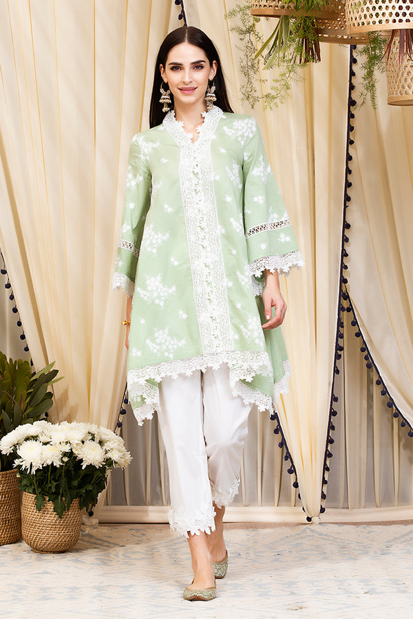 Mulmul Cotton Livia Kurta With Hibiscus Pants