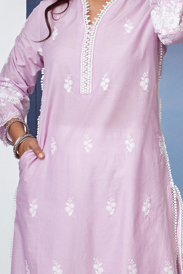 Mulmul Cotton Lovesong Kurta With New Harem Pant