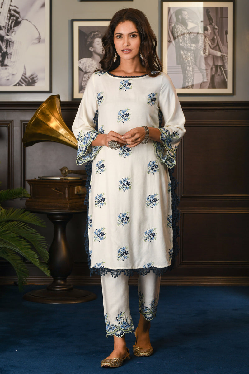 Mulmul Wool blend LUMI KURTA With LUMI PANT