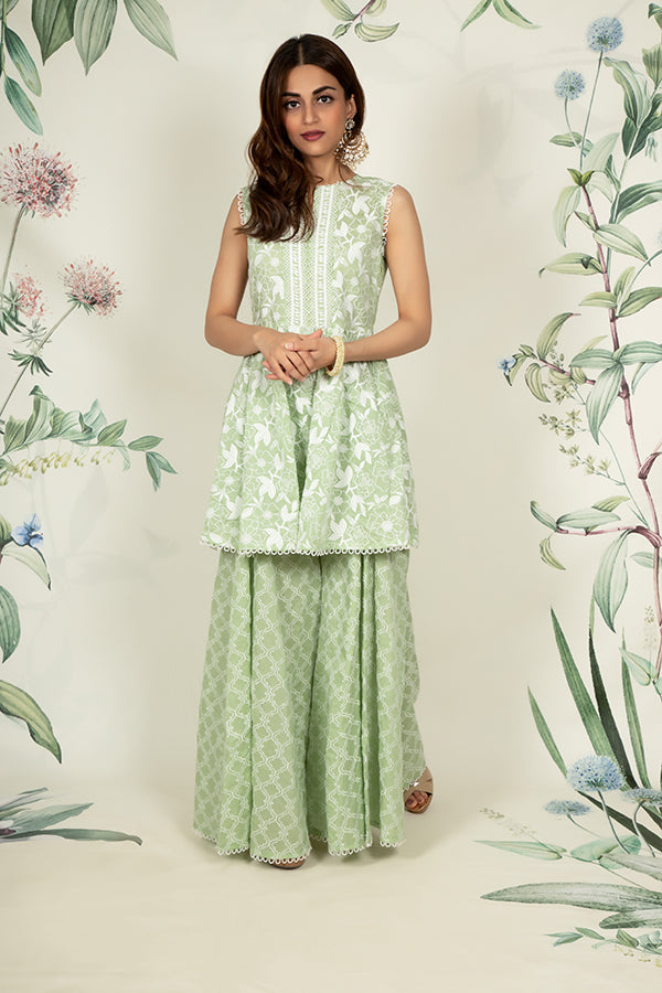Magnolia Kurta and Embroidered Sharara
