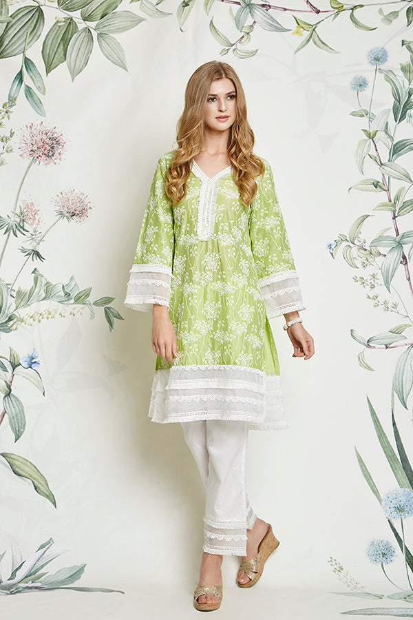 THISTLE KURTA (GREEN)