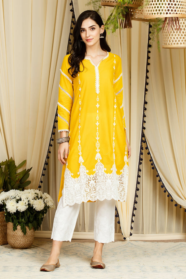 Mulmul Cotton Marcella Kurta