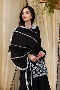 Mulmul Cotton Lace Gota Dupatta