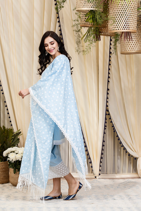 Mulmul Cotton Poppy Dupatta