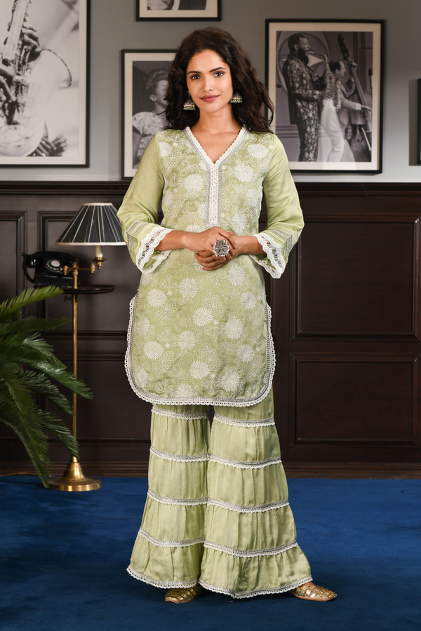 Japanese Silk NAOMI KURTA With NAOMI PANT