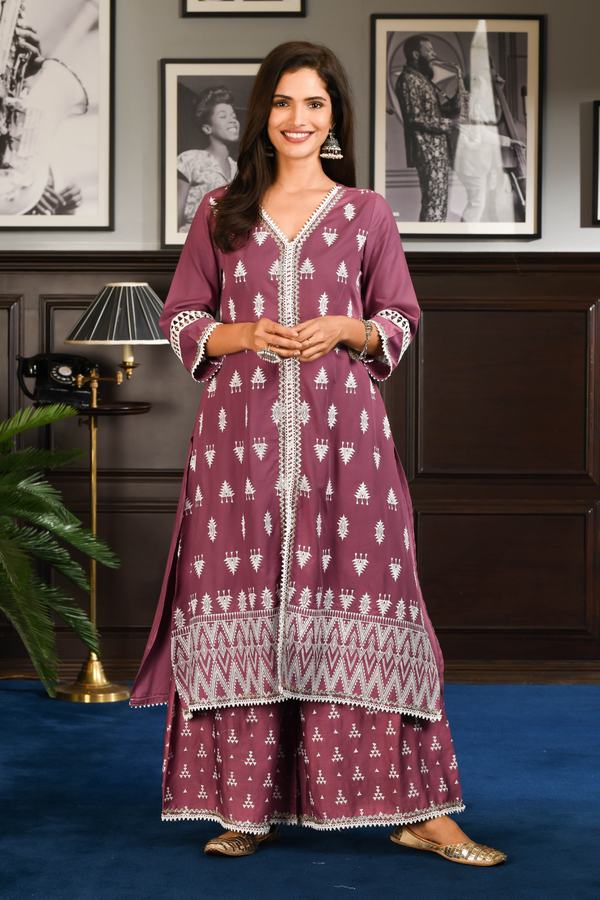 PIMA SATIN NARA KURTA With NARA PANT