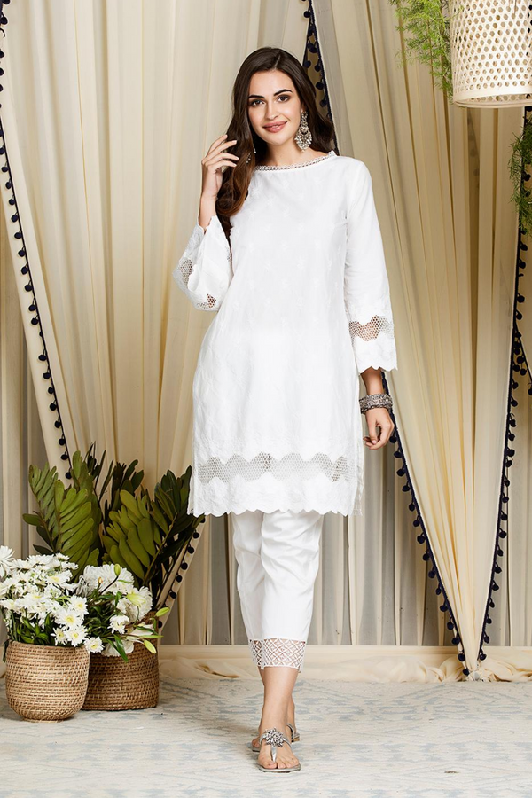 Nora Kurta White with Fern Cotton Pants