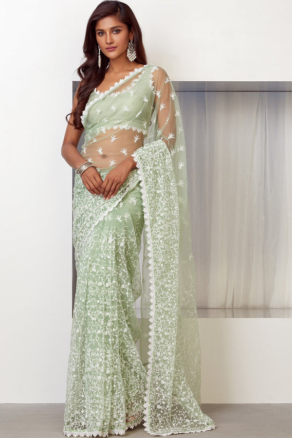 POISE NET SAREE