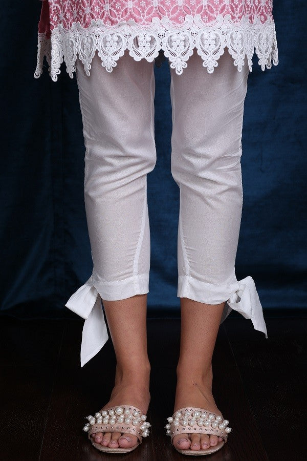 BOW PYAJAMA (WHITE)