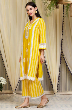 Mulmul Cotton Amelia Kurta  With Amelia Pants