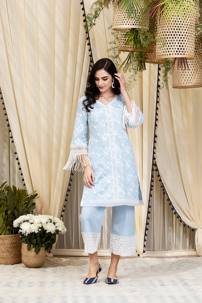 Mulmul Cotton Lina Kurta