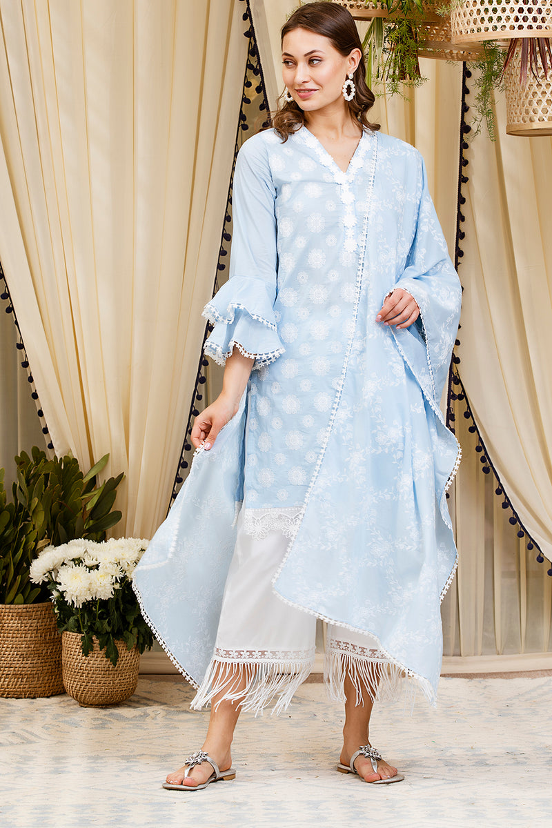 DAFFODIL KURTA (LIGHT BLUE)