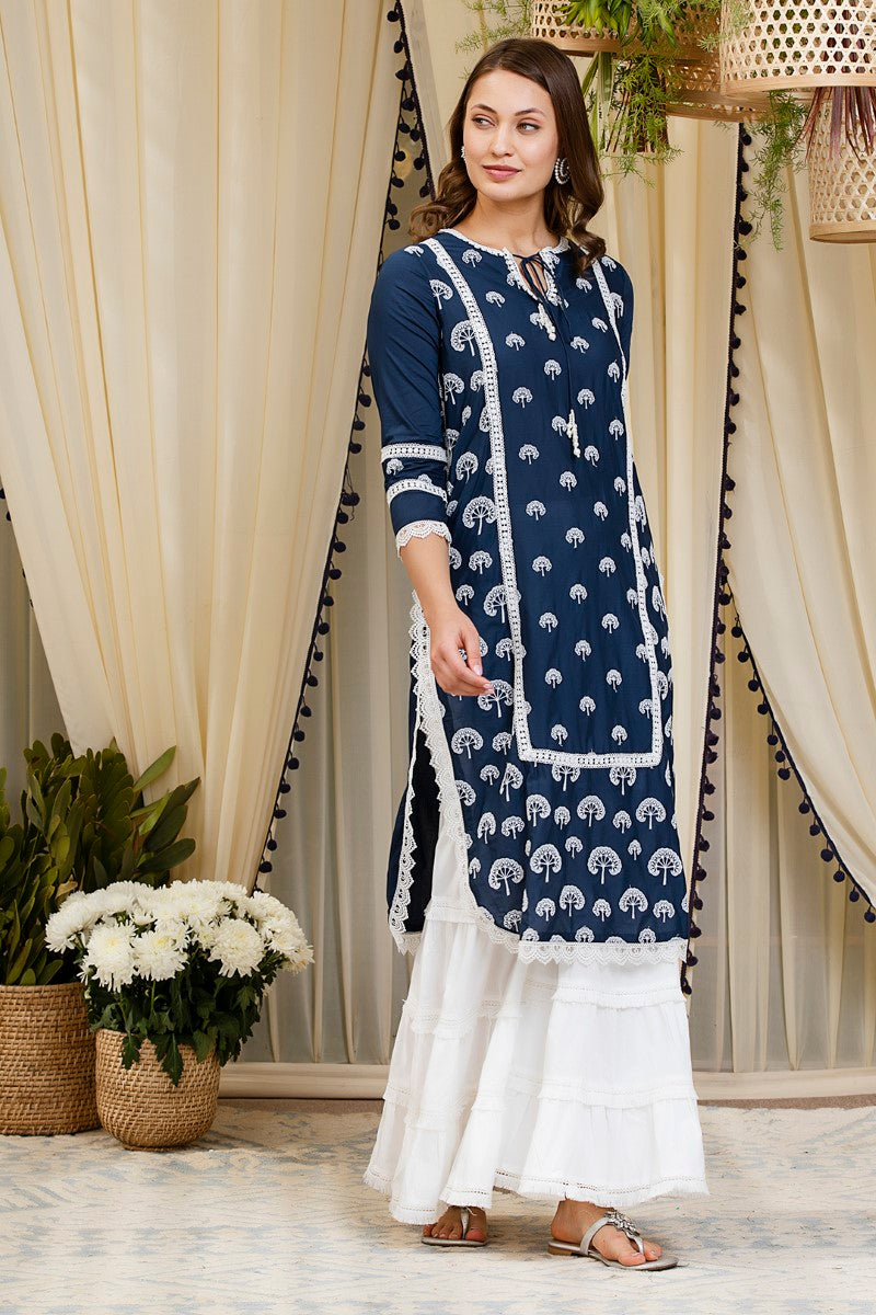 Snowdrop kurta with garara