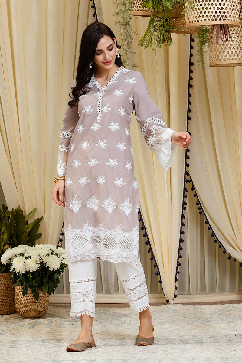 Petunia kurta  with new pintuck pants