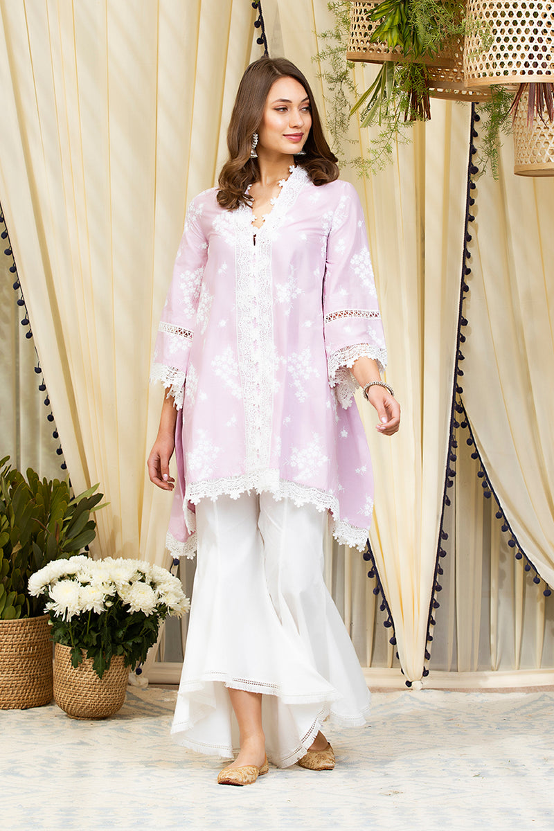 Mulmul Cotton Livia Kurta With New Bellbottom