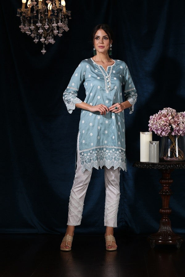 Moonflower Kurta (Teal)