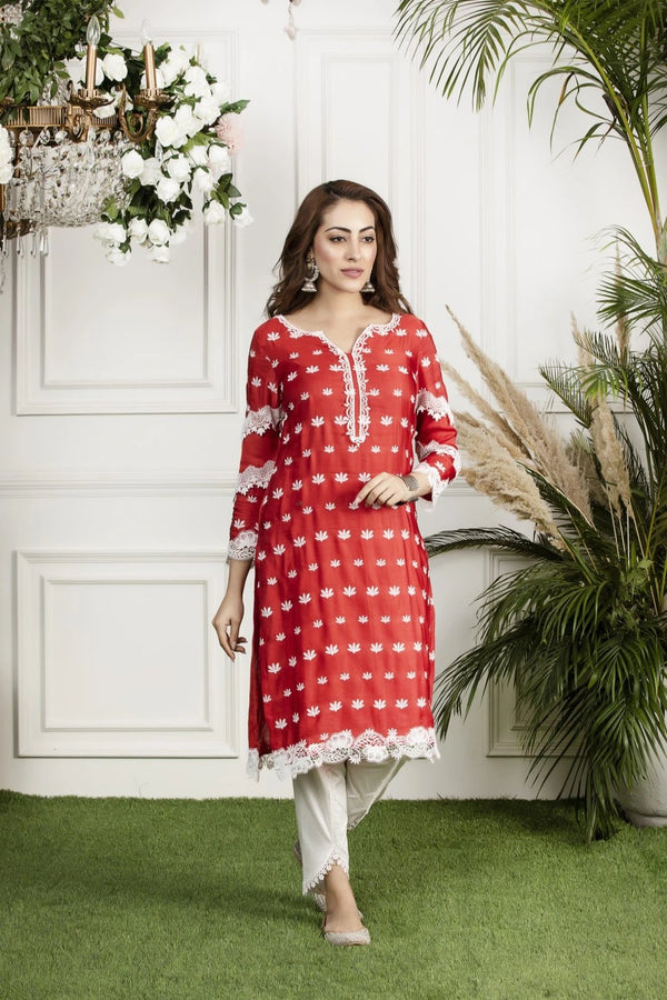 Mulmul Silk Water Lilly Kurta with Silk Dhoti