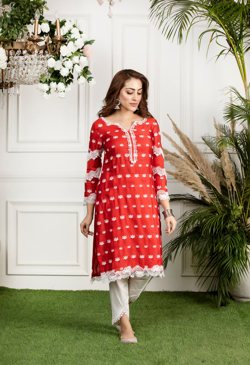Mulmul Water Lilly Kurta