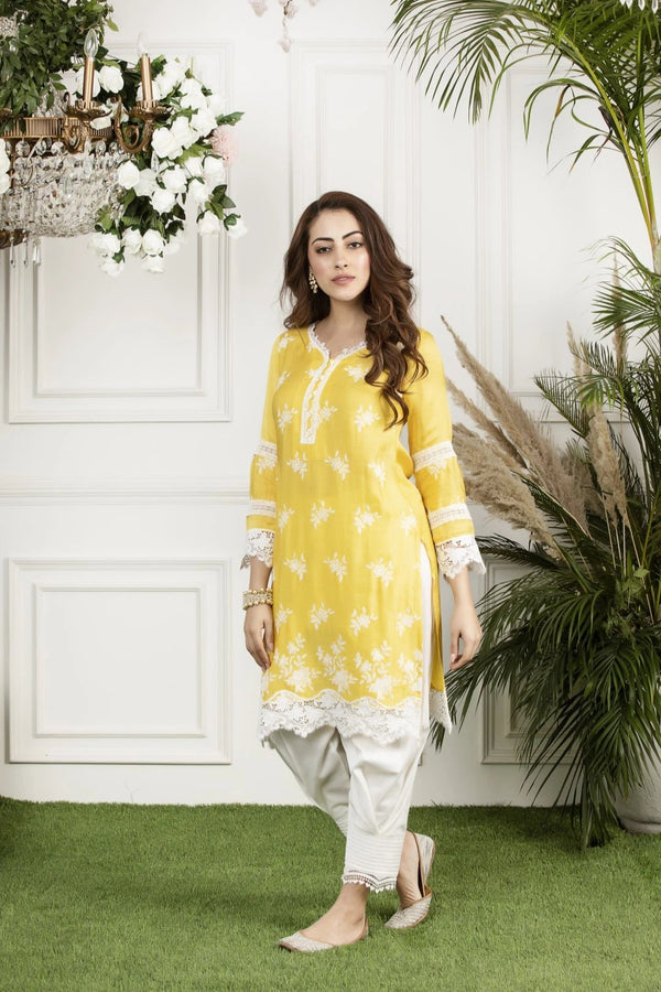 Mulmul Silk  Honey Cup Kurta