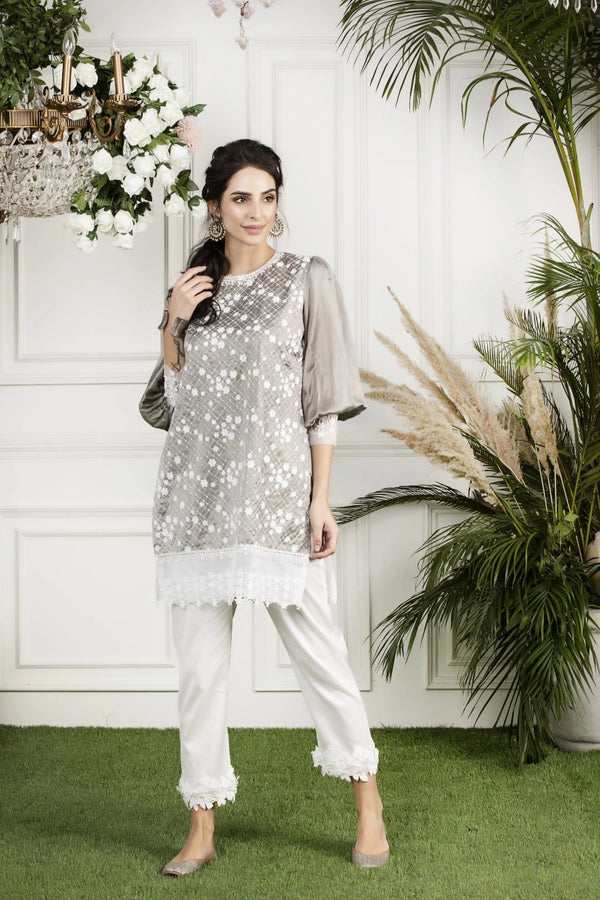 Mulmul Mimosa Kurta with Hibiscus cotton Pyajamas