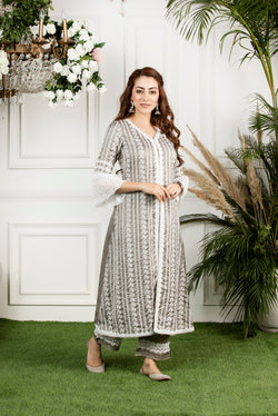 Mulmul Mayflower Kurta with Mayflower pyjamas