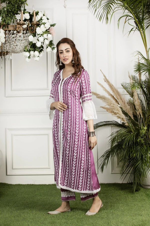 Mulmul Silk Mayflower Kurta