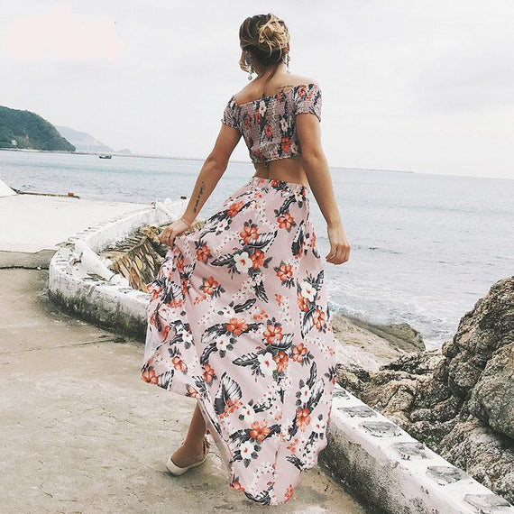 2018 Off Shoulder Maxi Dress